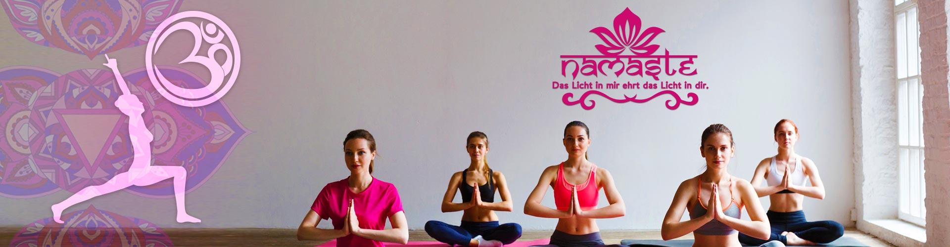 Namasté Wandtattoo in verschiedenen Variationen