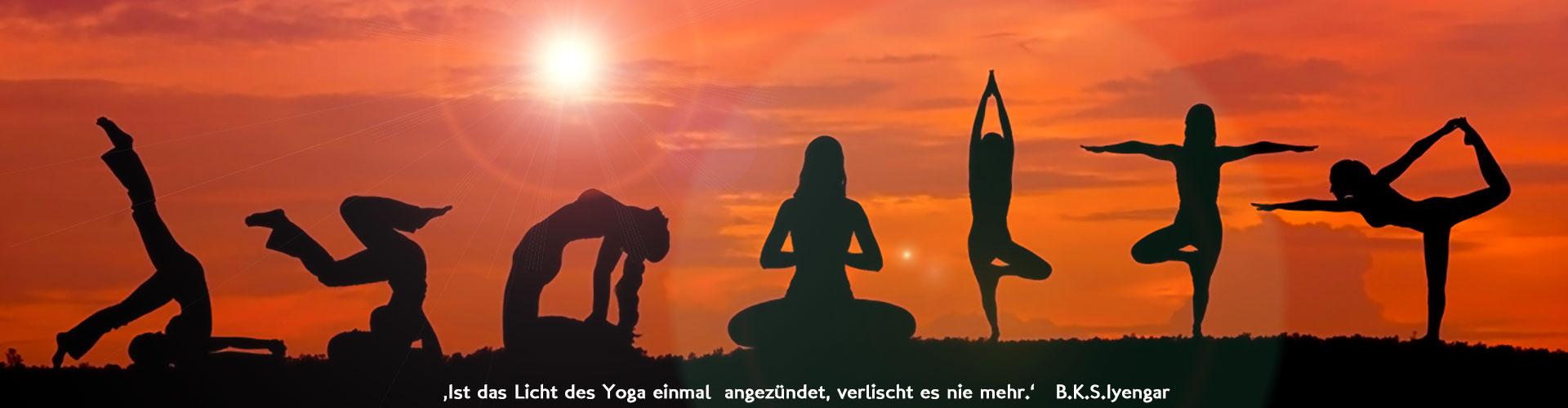 Yoga Asana Wandtattoo