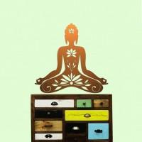 Buddha Wandtattoo Kupfer