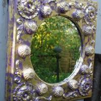 Flabellina Spiegel Relief Gold und Lila