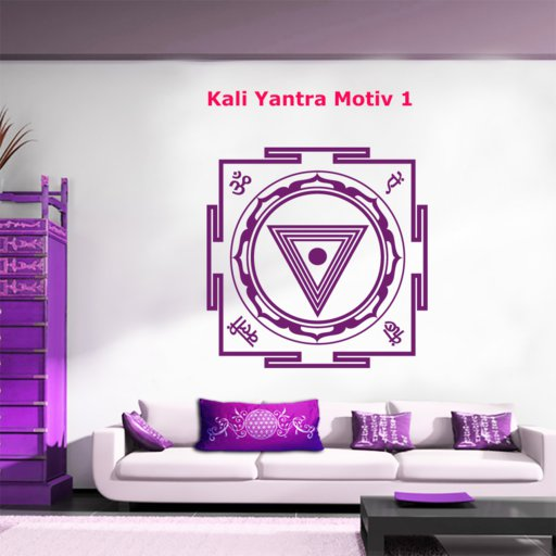 Kali Yantra Wandtattoo Motiv1