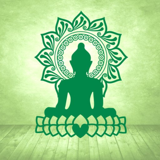 Buddha Herz Wandtattoo