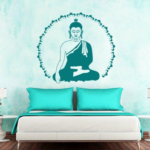 Buddha Lotus Wandtattoo
