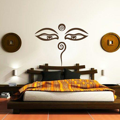 Buddhas Eyes Die Augen Buddhas als Wandtattoo