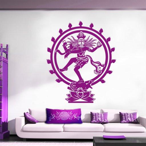 Shiva Wandtattoo als Glückverheißender Hindu Gott