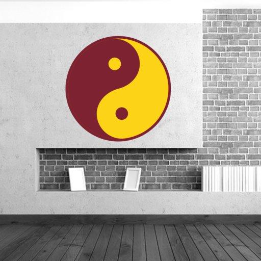 Wandtattoo Yin Yang zweifarbiges Wandtattoo