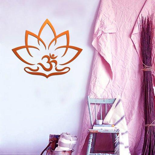 OM Zeichen Lotus onFire