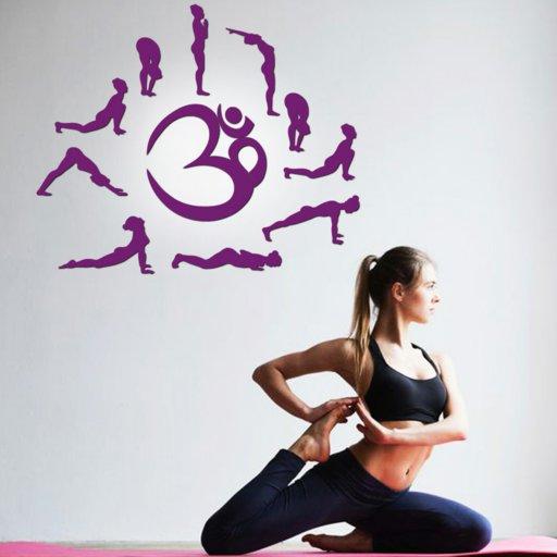 Sonnengruss Wandtattoo Yoga im Kreis