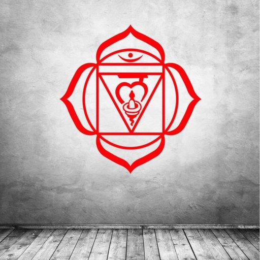 Muladhara Chakra Symbol Wurzelchakra Wandaufkleber