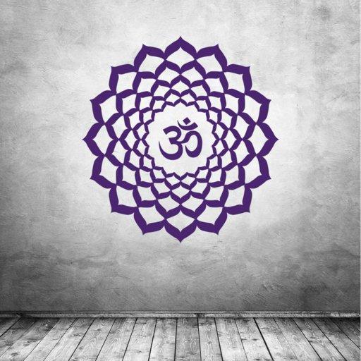 Sahasrara Chakra Kronenchakra Symbol Wandtattoo