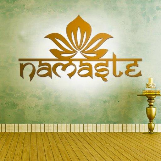 Namaste Lotus Wandtattoo
