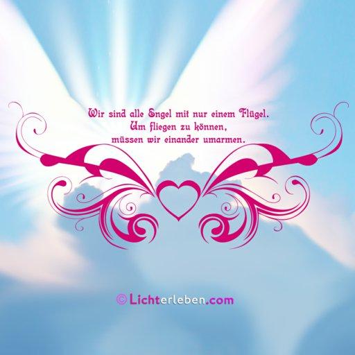 Engel fliegen mit Liebe Wandtattoo