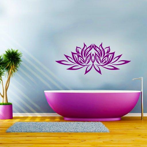 Wandtattoo Lotusblume