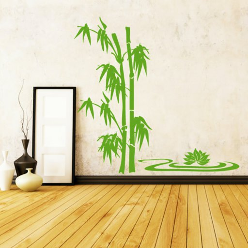 Bambus Lotusblume Wandaufkleber